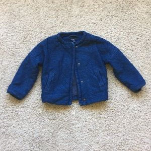 Baby Gap blue quilted jacket, size toddler-2 years